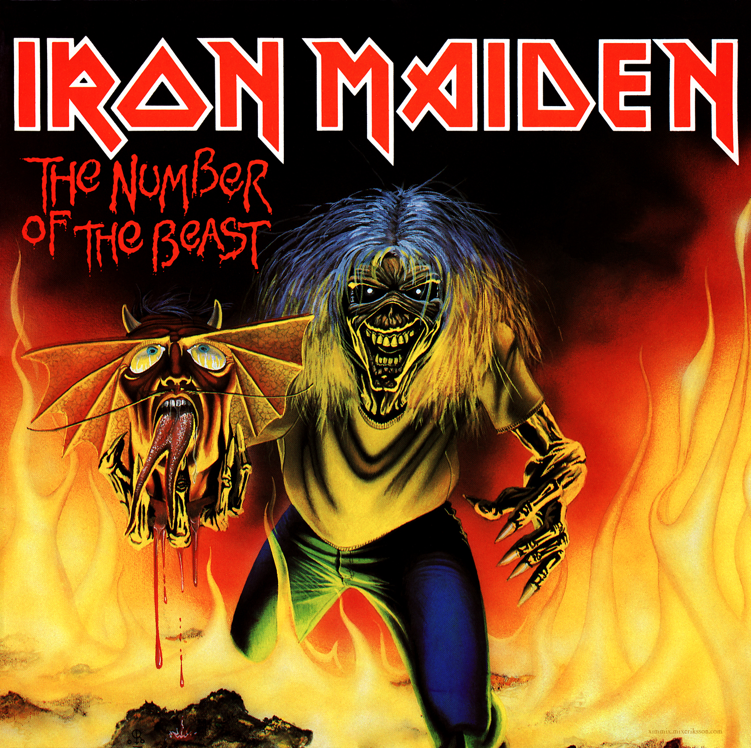 Iron Maiden Number Of The Beast Single ximmix - Metal Album C...