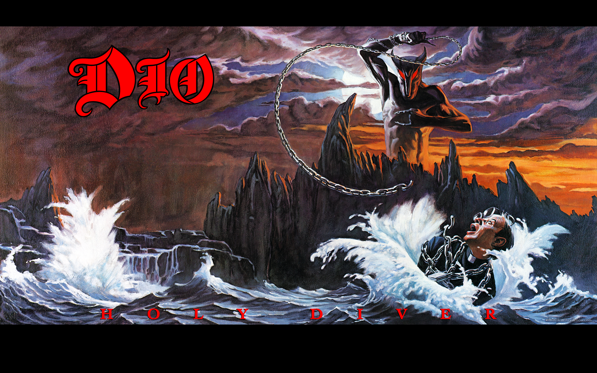 Holy Diver refers the priest falling into the water on the album's cover.